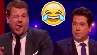 James Corden Plays Send To All With Michael McIntyre FUNNY