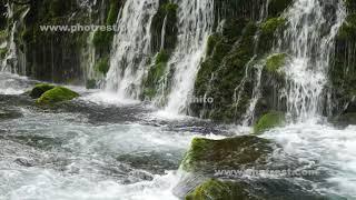 元滝の動画素材, 4K写真素材