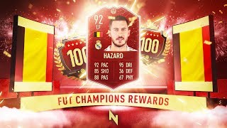 RED HAZARD PLAYER PICK!   TOP 100 FUT CHAMPS REWARDS   FIFA 20 Ultimate Team