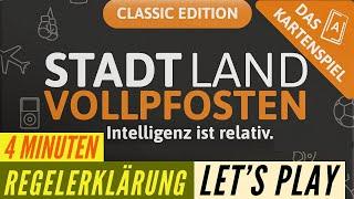 Stadt Land VOLLPFOSTEN - Aufbau - Regeln - Anleitung + Let´s Play - Kartenspiel