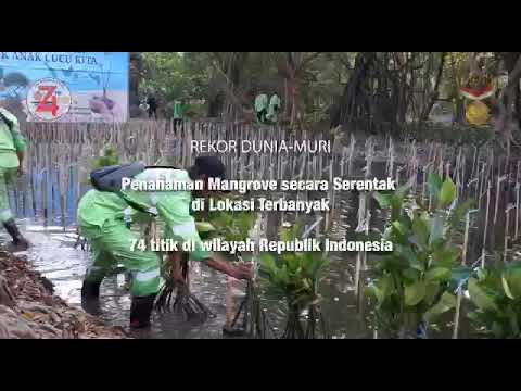 Penanaman Mangrove Serentak di 74 Lokasi