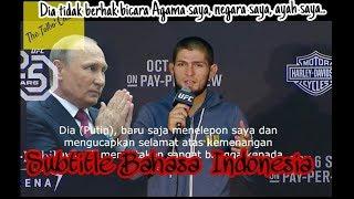 Konfrensi pers khabib Numagomedov setelah menghancurkan McGregor Subtittle Bahasa Indo