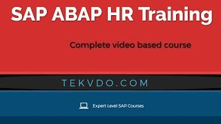 SAP ABAP HR Training - Complete video based course - HR ABAP