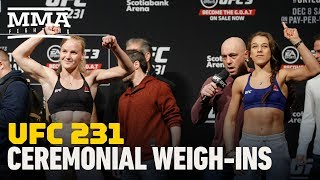 UFC 231 Ceremonial Weigh-in Highlights - MMA Fighting