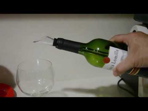 Vintoral Enfriador de vino acero inoxidable del refrigerador del palillo con aireador y vertedor Opi