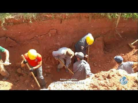 Pedreiro morre soterrado em obra da prefeitura de Alfredo Vasconcelos, no Campo das Vertentes