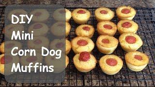 DIY Mini Corn Dog Muffins