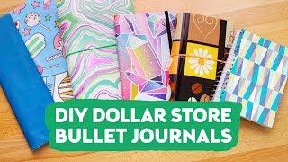 DIY Dollar Store Bullet Journals | Sea Lemon