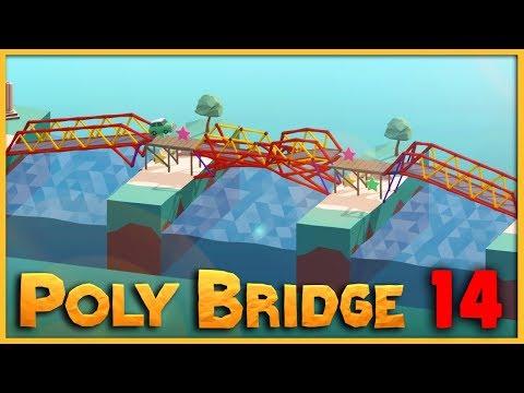 TROJITÝ HYDRAULICKÝ MOST | Poly Bridge #14 | Pedro