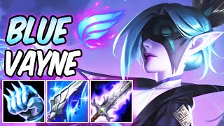 S+ BLUE VAYNE | NEW AMAZING BUILD & RUNES + PHASE RUSH OP MOVEMENT SPEED | Spirit Blossom Vayne ADC