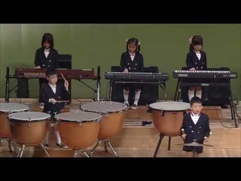 【りゅうせん幼稚園】第38回 おわかれ演奏会/器楽合奏 「行進曲 旧友」