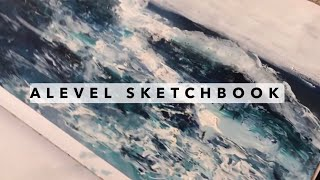 A* A-LEVEL Art Sketchbook- Landscapes (A2 Coursework)