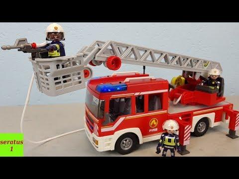 Playmobil Feuerwehr Leiterfahrzeug 9463 auspacken seratus1