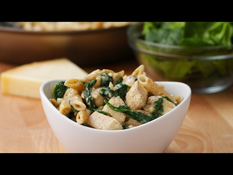 Video Healthier Chicken Alfredo Pasta