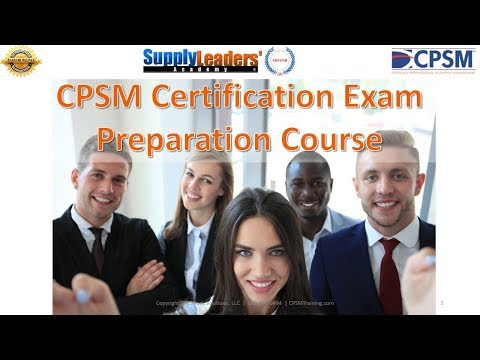 CPSM Certification Training Review Course - YouTube