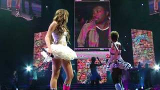 Hoe Down Throw Down LIVE in HD Up Close - Miley Cyrus Portland Wonder World 2009 Tour