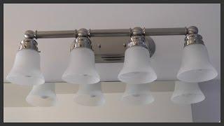 Bathroom Vanity Light Fixture Installation