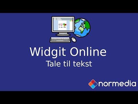 Tale til Tekst i Widgit Online