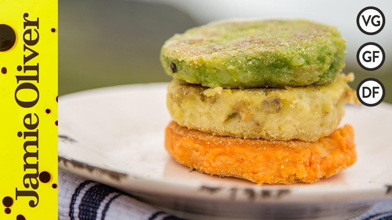Irish Flag Potato Cakes