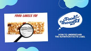 Food for Thought: Nutrition Facts Labels