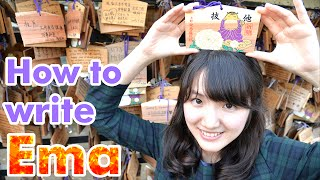"""""""Ema"""" Wooden Plaques for make your wish Japanese Shinto Shrine 絵馬 書き方 神社"""