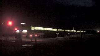 V/Line Vlocity passenger train at night - Australian Railways, Railroads & Trains