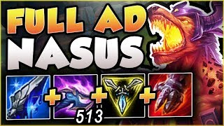 STOP PLAYING NASUS WRONG! 200 IQ TEAR RUSH NASUS! NASUS SEASON 8 TOP GAMEPLAY! - League of Legends