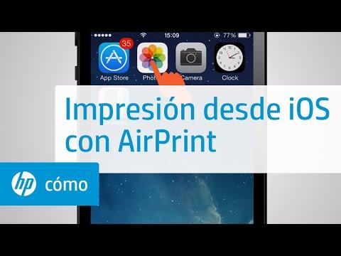 Impresión desde iOS con AirPrint