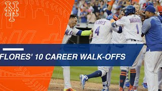 Wilmer Flores' 10 career walk-off moments with Mets