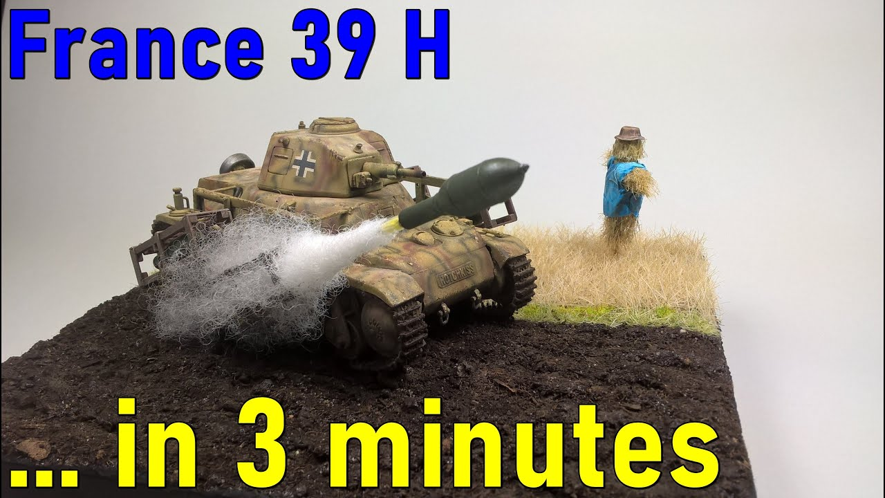 #4 … in 3 minutes – France 39 H scale 1/35 – model build