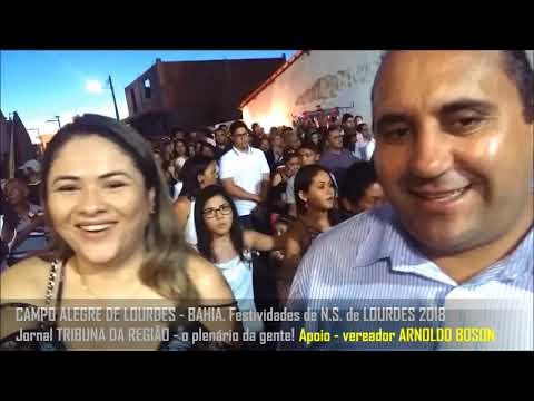 Prefeito de BONFIM DO PIAUÍ em CAMPO A DE LOURDES - BA. durante festividades de 2018