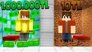 ZENGİN ODASI VS FAKİR ODASI! 😱 - Minecraft