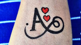 Very Beautiful And Very Simple A Letter Tattoo | A Letter Tattoo | Make A Letter Tattoo