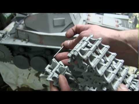 1/6th scale German Panzer II Ausf. B project video #5 part 1 of 3 (sprocket and headlight mods)