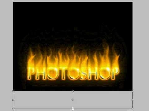 photoshop fire text tutorial!! fire text!!!