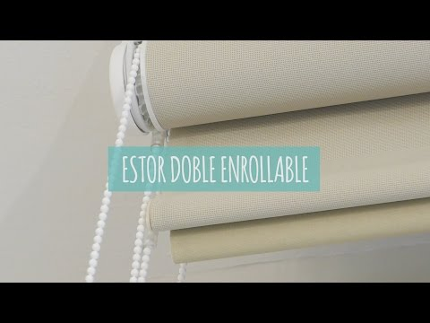 Estor enrollable doble screen & black out. Tutorial de instalación