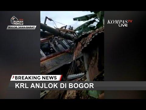 KRL Anjlok Hingga ke Luar Rel di Kebon Pedes, Bogor