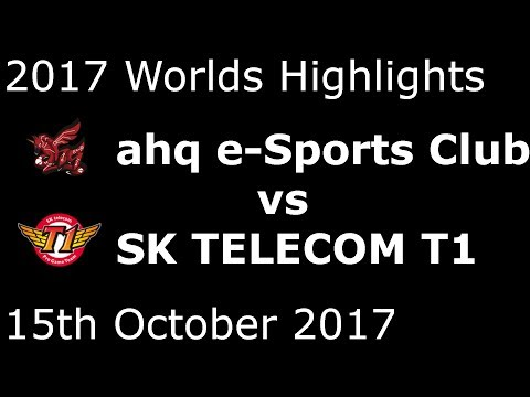 AHQ Vs SKT HIGHLIGHTS 2017 WORLDS GROUP STAGE DAY 8 GROUP A