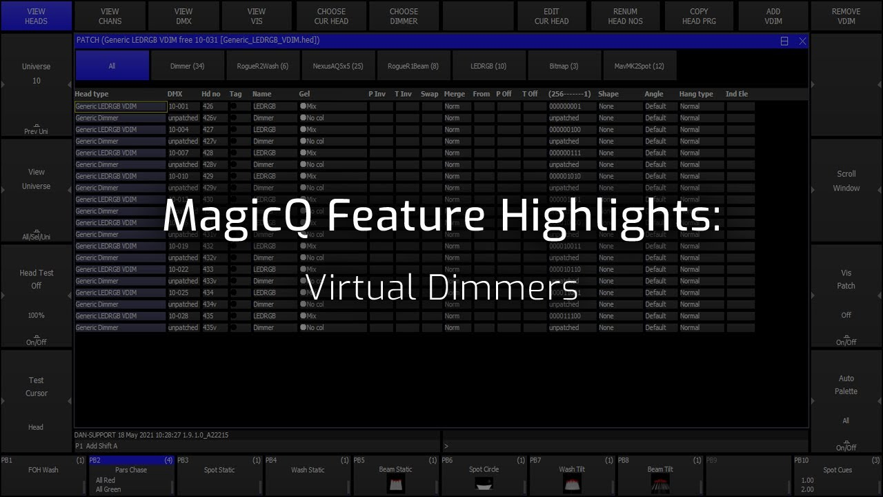 Virtual Dimmers