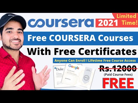 Coursera Free Certification Courses 2021 | Student Get Professional ...