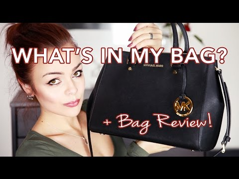 WHAT'S IN MY BAG? + Michael Kors Medium Sutton Satchel Review!