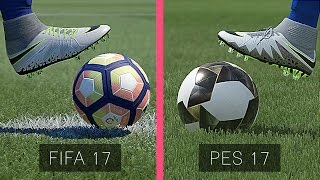 FIFA 17 Vs  PES 17: Graphics Comparison