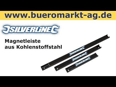Silverline Magnetleiste aus Kohlenstoffstahl, schwarz, 3 teilig