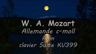 W. A. Mozart - Allemande c-moll K.399 on Casio PX-5S & Casio CDP-220R  - 4 my different records