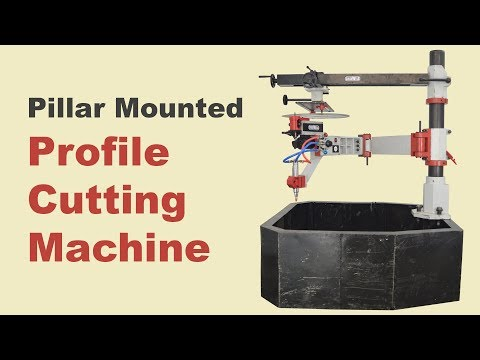 Pillar Mounted Heavy Duty Profile Gas Cutting Machine