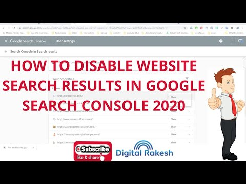 How to disable Search results in google search console 2020