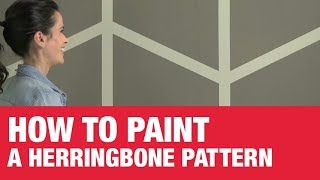 How To Paint A Herringbone Wall Pattern - Ace Hardware