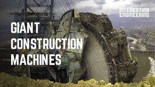 Enormous machines transforming construction