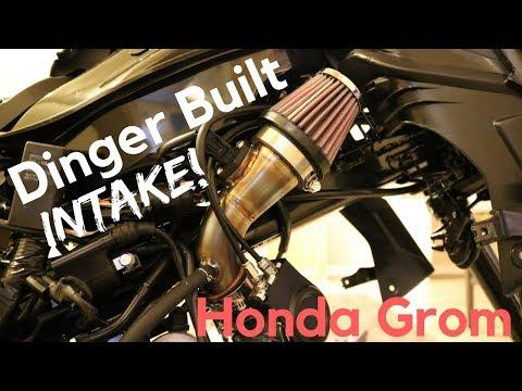Dinger Built intake install on the Honda Grom - смотреть