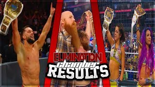 WWE ELIMINATION CHAMBER 2019 FULL SHOW RESULTS (WWE ELIMINATION CHAMBER RESULTS)